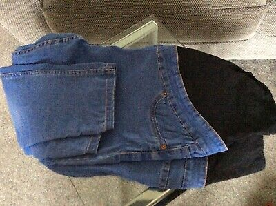 Ladies Size 16 Maternity Jeans Legging Over The Bump New Look Blue