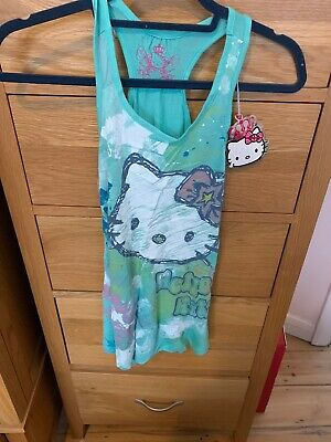 Girls Marks And Spencer Hello Kitty Vest Top. Age 8 Years. Brand New With Tags