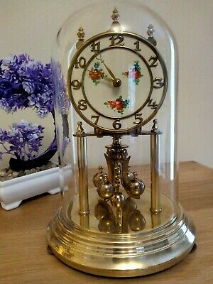 German Kieninger & Obergfell Kundo Brass Anniversary 400 Day domed Clock