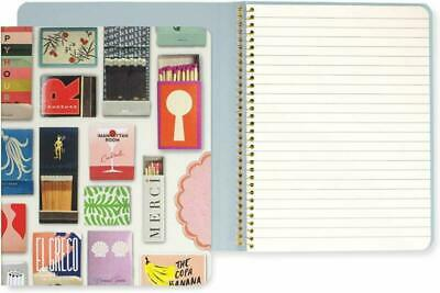 Kate Spade New York Concealed Spiral Notebook With 112 Lined Pages, Matchbook