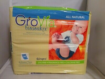 Grovia BioSoaker/Disposable Inserts Pads NEW unopened50ct