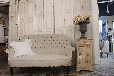 Pretty French Antique Button Back Sofa