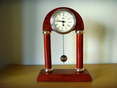 Watch Desktop of Wood and Silver of Sterling - Table Clock - Quartz