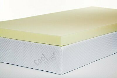 "Orthopaedic Memory Foam Mattress Topper 1"" 2"" 3"" 4"" 3ft 4ft6 5ft Single Double"