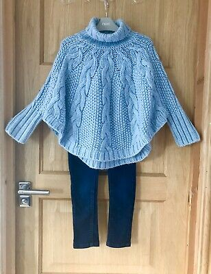 NEXT *5y  GIRLS CABLE KNIT JUMPER & DENIM JEANS 5 YEARS (5-6y)