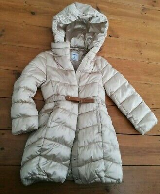 Mayoral Light Gold Puffer Puffa Coat Girls Age 8 Years Very Good Condition,...