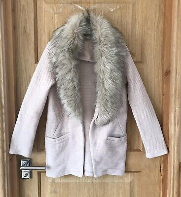 RIVER ISLAND *11-12y GIRLS COAT / JACKET Faux Fur TRIMS OUTFIT 11-12 YEARS