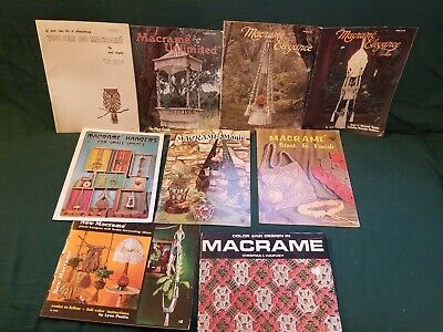 Lot Of 9 Macrame Books & Magazines - Titles in Listing