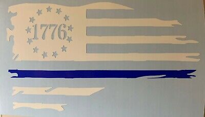 Wholesale Lot of 6 Betsy Ross 1776 Distressed Historical Decal Bumper Sticker
