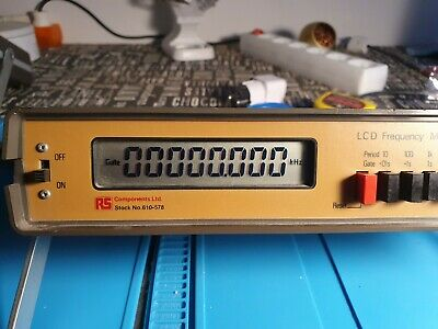 Frequency Meter LCD TF 200 RS Components 10 Hz - 200 Mhz.