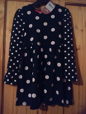 TU Girls navy and white spotted dress age 2-3 years BNWT