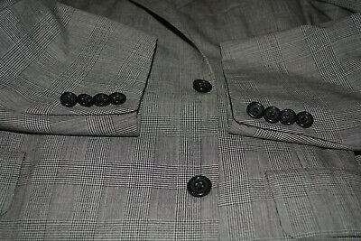 $4825 Oxxford Clothes Gray Prince of Wales Wool Suit 46L 40W Saks Fifth Avenue