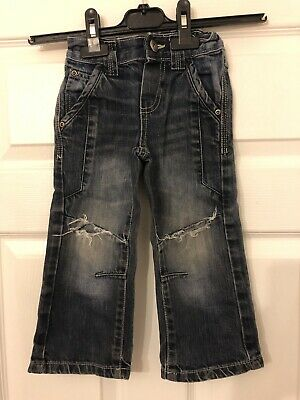 Duck & Dodge Boys Aged 2 Years Cotton Ripped Faded Jeans