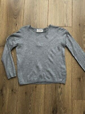 Girls Grey Zara Jumper Age 4-5yrs