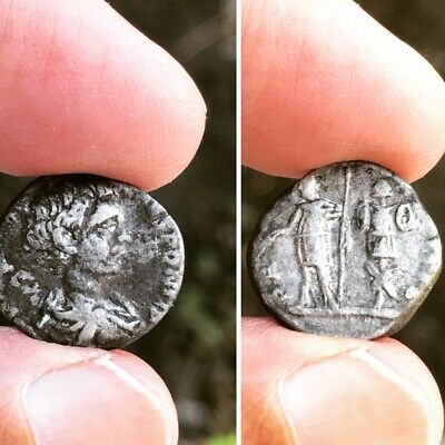 Ancient Roman/Greek BC/AD unknown silver unclean coin rare see scan
