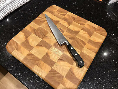 Solid Hardwood End Grain Cutting Board Rectangle Handmade