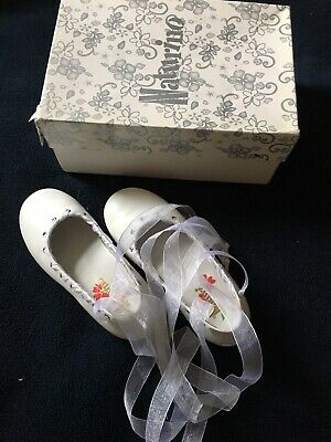 White Naturino Girl's Party Shoes 26 / Uk 8J Wedding /first Communion Vgc.