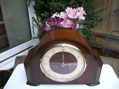 Smiths Enfield Oak Case 8 Day Striking Mantel Clock. 1954. Fully Overhauled.