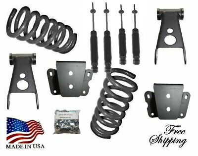 """1980-1996 Ford F150 F-100 2WD 3/"""" Front Drop Coils Lowering Springs #253630"""