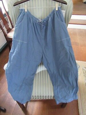 Nwt! Fresh Produce Cotton Sheeting Topstitch   Capri On Blue (1X) Relax Fit