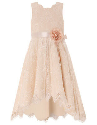 Monsoon flower girl party occasion dress Rebecca high low age 10