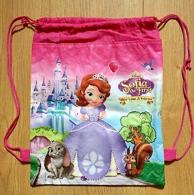 Disney Sofia the First Properly Princess Drawstring Gym Bag