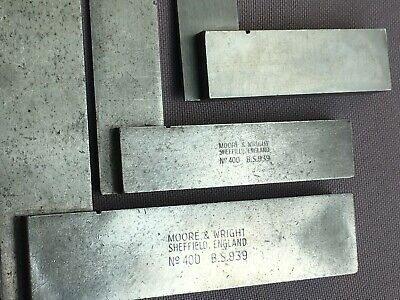 3 x Vintage Precision SQUARE, Moore & Wright No. 400 B.S. 939 - Engineering...