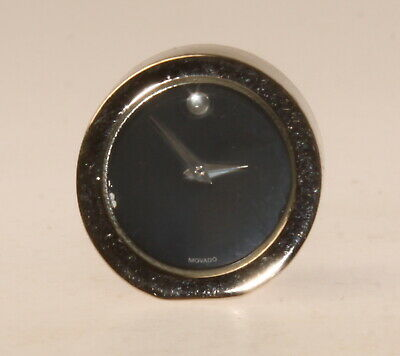 Vintage MOVADO Quartz Table/Shelf Mini Quartz Clock <VERY GOOD USED>