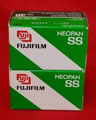 Lot Of 2 Fujifilm Neopan Ss Black & White B&W Camera Film 135-36 Expired Iso 100