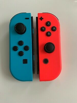 100% OEM GENUINE Original Nintendo Switch Joy Cons Controller Neon Blue & Red