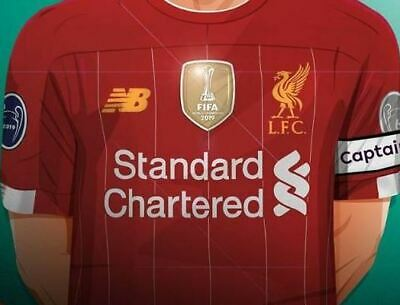 Liverpool 2019 World Champions Patch Shirt Jersey Iron On Photo Picture