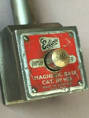 Vintage ECLIPSE Cat. No. 903 MAGNETIC BASE For Dial Indicator - Engineering Tool