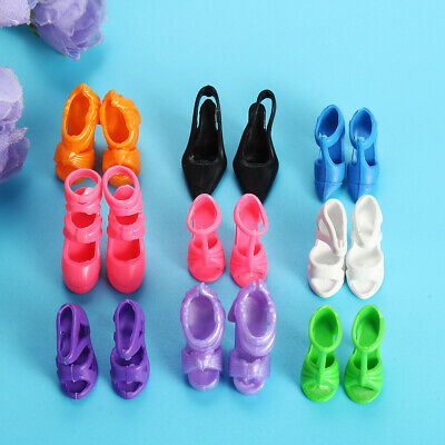 80X Fashion Doll Shoes High Heels Boots Sandals For Dolls Outfit Dress Gifts US