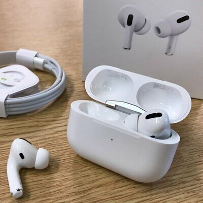 Genuine Apple AirPods Pro MWP22AM/A White In-Ear Wireless Headphones COMPLETE
