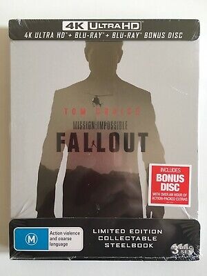 NEW Mission Impossible 6 Fallout 4K UHD HDR Bluray Steelbook Limited Edition