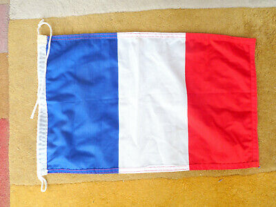 Drapeau Marine - 43 x 27 cm   -France  - Navigation  - nylon