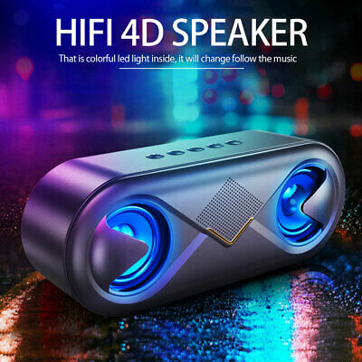 Portable Bluetooth Mini Speaker with USB AUX TF FM Radio DS A8BT Rechargeable