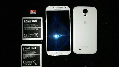 Samsung Galaxy S4 SGH-I337 - 16GB +16GB SDcard+extra Battery White Frost (AT&T)