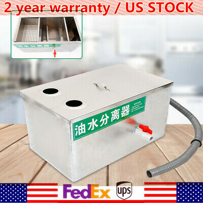 New Commercial  Stainless Steel Grease Oil Trap Interceptor 2-year Warranty 6.6L