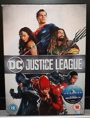 DC JUSTICE LEAGUE DVD IN CARDBOARD SLIPCASE. As new dvd - viewed once only.