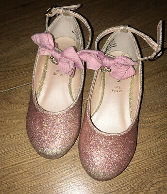 Girls Sparkle Party Shoes From Monsoon Size Uk 8