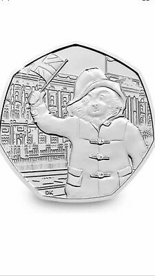 Paddington Bear At The Palace 50p Coin.Circulated But In Good Condition.