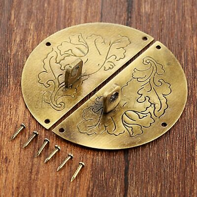 60mm Round Carved Decor Jewelry Box Latch Catch Hasp Drawer Cabinet Clasp Buckle