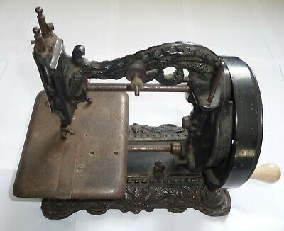 Fine Antique Princess Of Wales Ornate Freestanding Cast Iron Sewing Machine