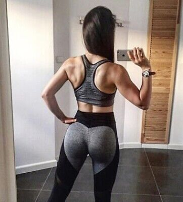 New Women's Sport Gym Yoga Leggings Fitness Active Wear Sizes Uk 6 8 10 12 14