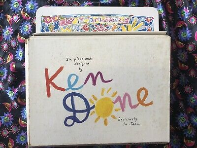 KEN DONE WILDFLOWERS Placemats Complete Set 6