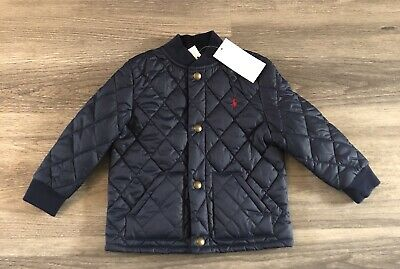 BNWT RALPH LAUREN Baby Toddler Boy Navy Quilted Jacket Age 24 Months RRP £105