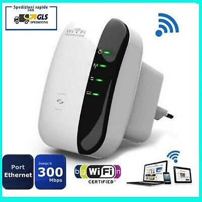 RIPETITORE AMPLIFICATORE DI SEGNALE WIFI WIRELESS CON PORTA WLAN ROUTER 300Mbps