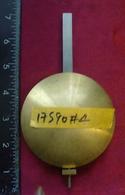 17590#4 30hr long case clock pendulum bob outer dia approx 90mm clock parts