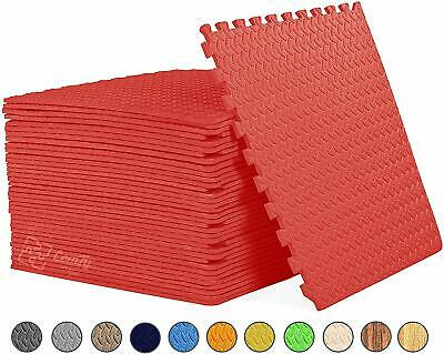 Interlocking Red Heavy Duty EVA Foam Gym Flooring Floor Mat Tiles 60X60X1 cm